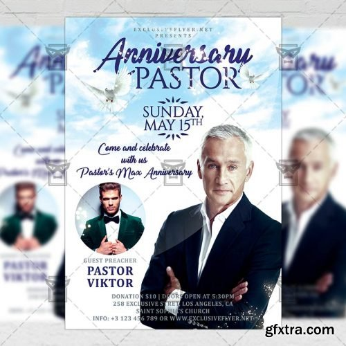Pastor Anniversary Celebration – Club A5 Template