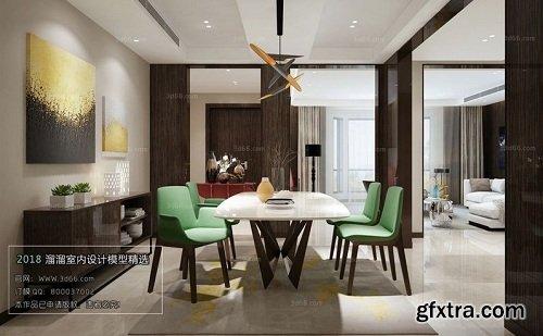 Mix Style Kitchen Interior Scene