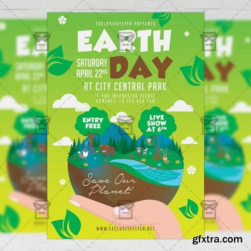 Mother Earth Day Celebration Flyer – Seasonal A5 Template