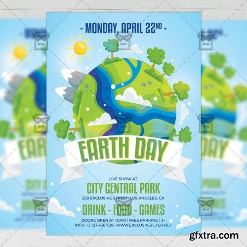 Mother Earth Day Flyer – Seasonal A5 Template