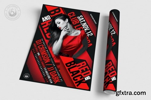 Black and Red Party Flyer Template V1
