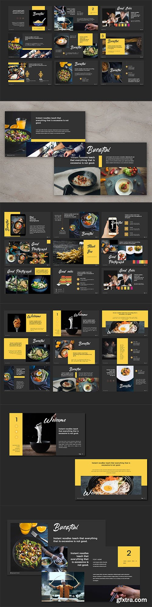 Bucatini Food Powerpoint and Keynote Presentation