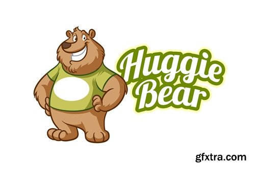 Friendly Bear Mascot Logo
