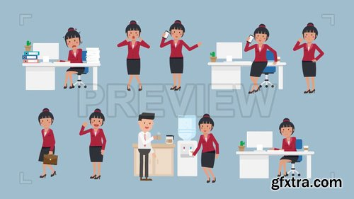 Asian Corporate Woman Pack #2 208389
