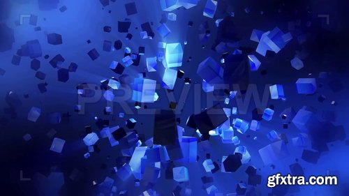 Cubes Fly In Space 246711