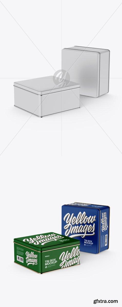 Two Matte Tin Boxes Mockup 31221