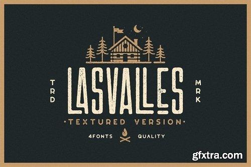 CM - Las Valles Textured Typeface 3847338