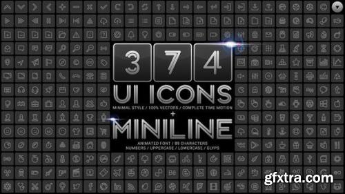 VideoHive UI Minimal Icons & Miniline Font 11993701