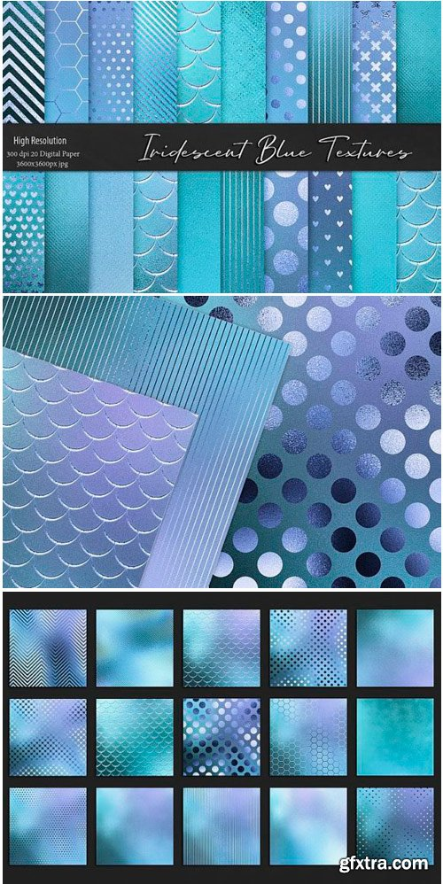 Iridescent Blue and Turquoise Textures 1502566