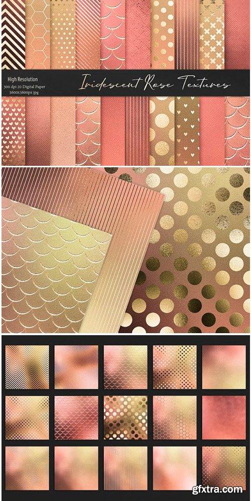 Iridescent Gold Rose Textures 1502574
