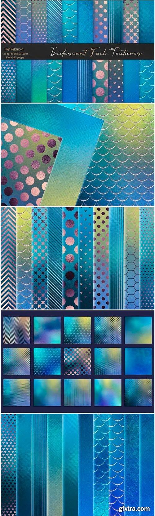 Iridescent Blue Foil Textures 1502892