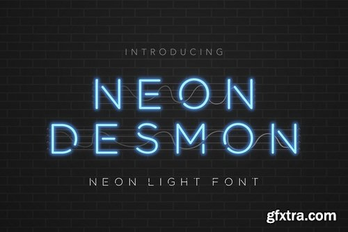 CM - Neon Desmon - Neon Light Font 3867224