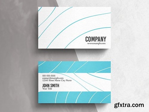 White and Blue Minimal Business Card Layout 271451223