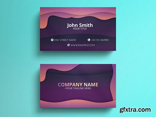 Black Marble Business Card Layout with Gold Lines 271451167