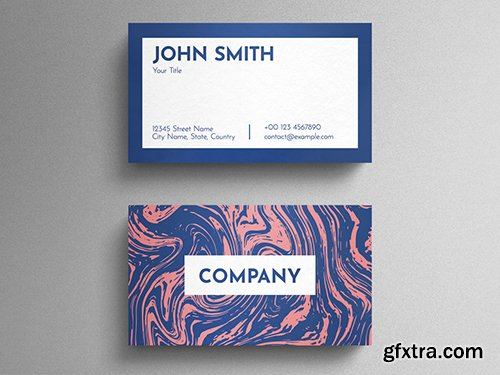 Graphic Liquid Pattern Business Card Layout 271838761
