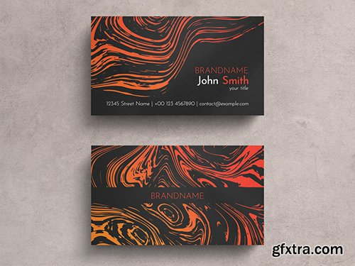 Colorful Liquid Graphic Business Card Layout 271838777