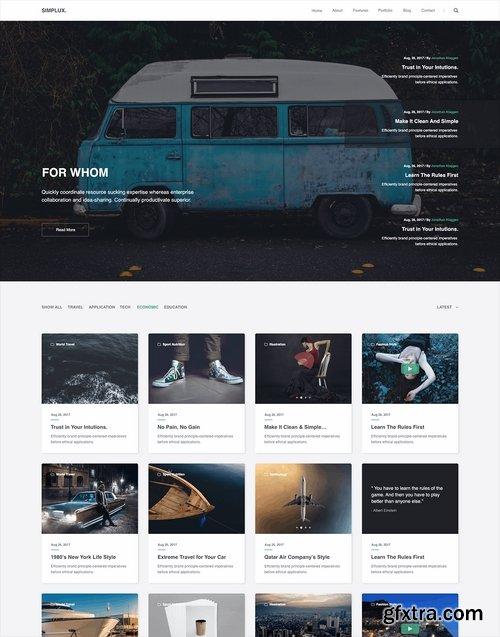 Simplux Creative Portfolio and Blog 66 Art Pages