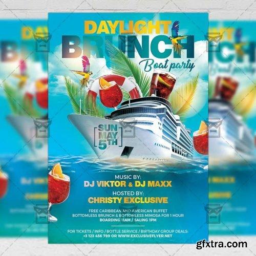 Daylight Brunch Flyer – Seasonal A5 Template
