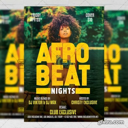 Afro Beat Nights Flyer – Club A5 Template