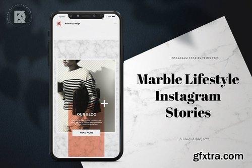 Marble Lifestyle Instagram Stories