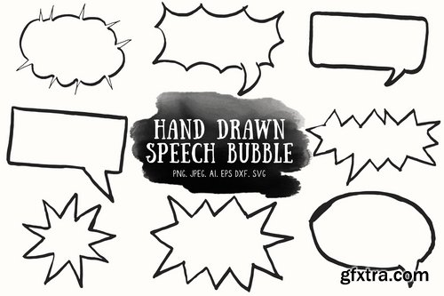 10+ Handdrawn Speech Bubble Cliparts