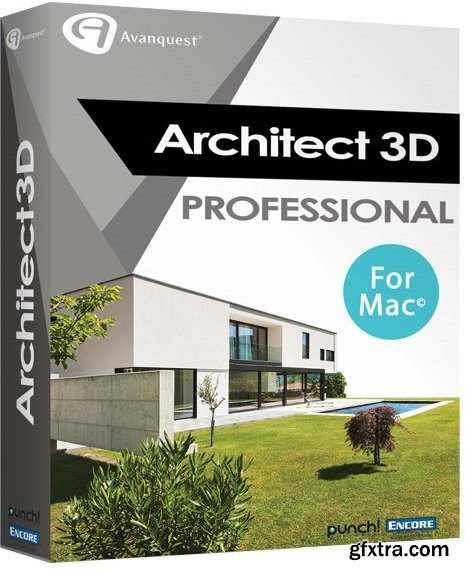 Avanquest Architect 3D Professional 2017 Mac 19.0.8