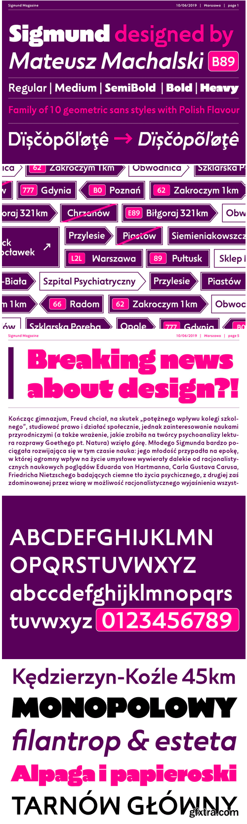 Sigmund Font Family