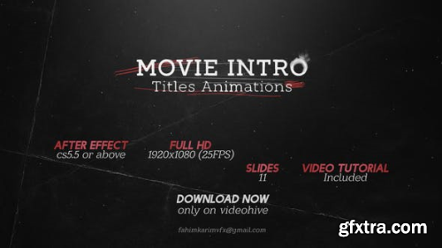 VideoHive Movie Intro Titles Animations 22847388