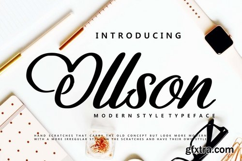 Ollson | Modern Style Typeface