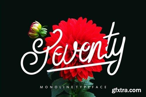Seventy | Monoline Typeface