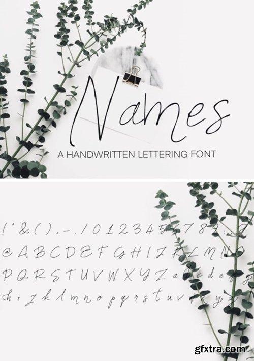 Names Font
