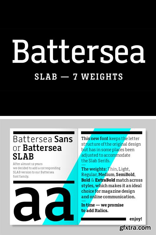 A2 Battersea Slab Font Family
