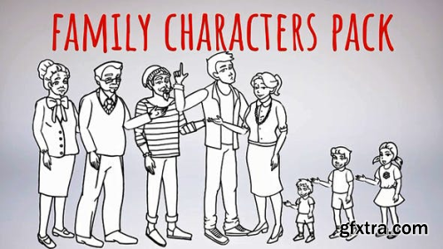 Videohive Whiteboard-Characters-Family-Whiteboard 21414985