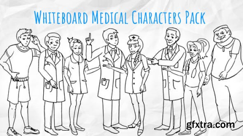 Videohive Medical Characters - Healthcare Whiteboard Animation 21106819