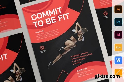 Personal Trainer Poster Flyer Business Card Brochure Bifold Trifold