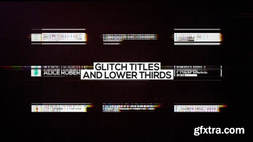 VideoHive Glitch Titles and Lower Thirds 23285684