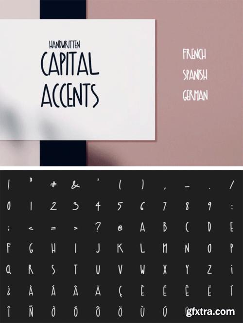 Capital Accents Font
