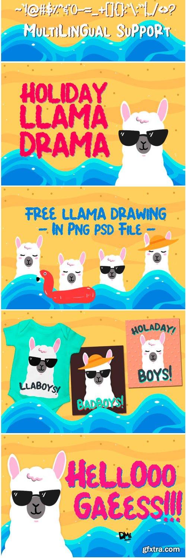 Summer Llama Font