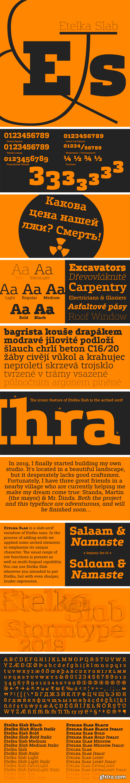 Etelka Slab Font Family