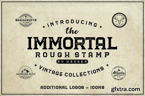 MightyDeals 45 Vintage and Classy Fonts, Logo Templates and Icons