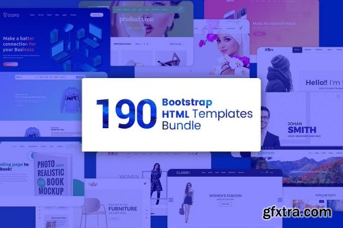 MightyDeals 190 Premium Bootstrap HTML Templates