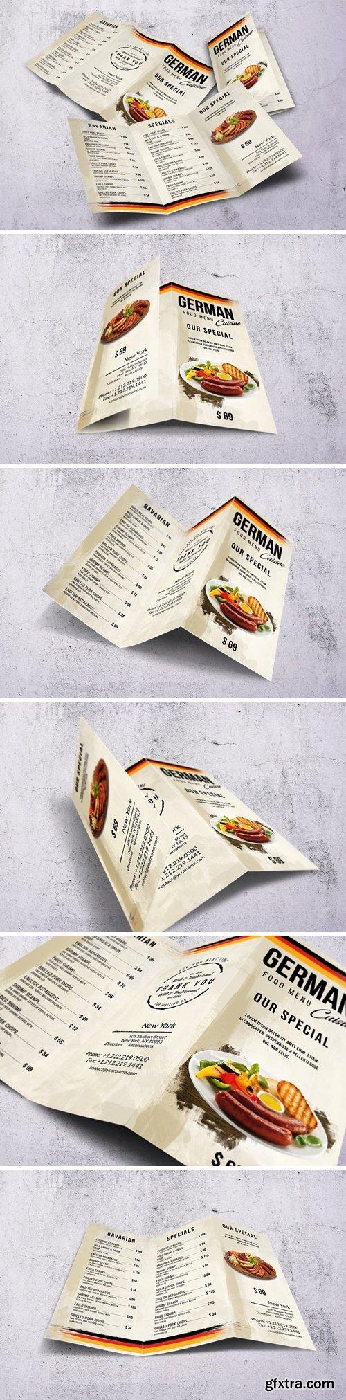 German Cuisine A4 & US Letter Trifold Food Menu