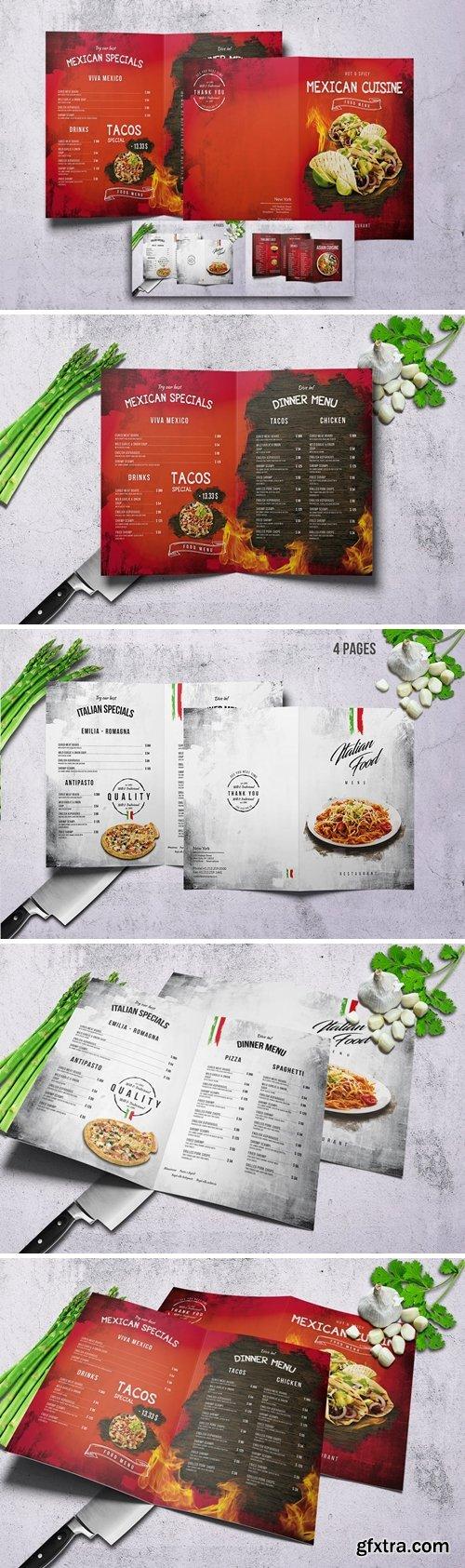 Different Cuisines Bifold Menu Bundle