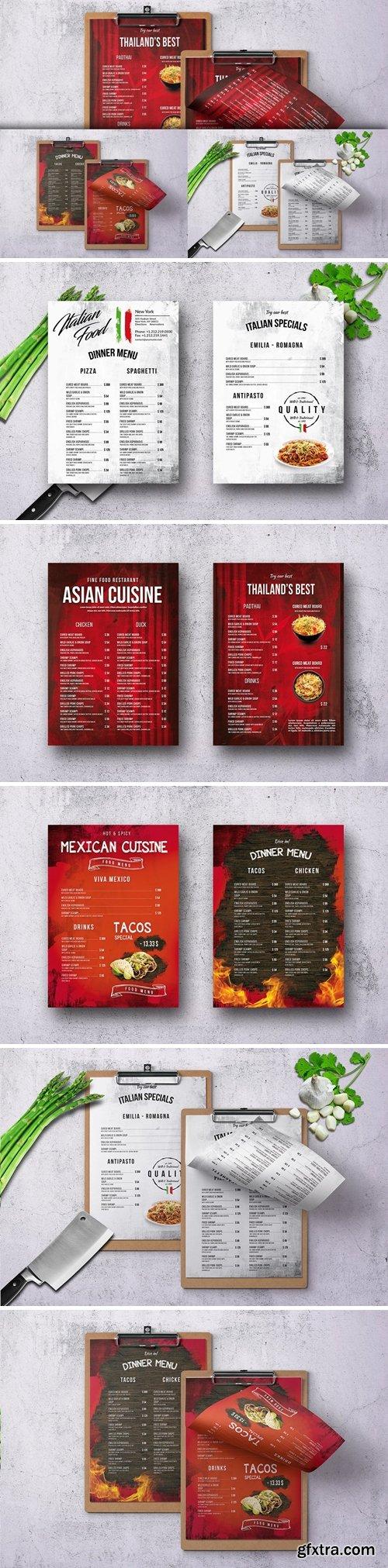 Different Single Page Food Menu Bundle