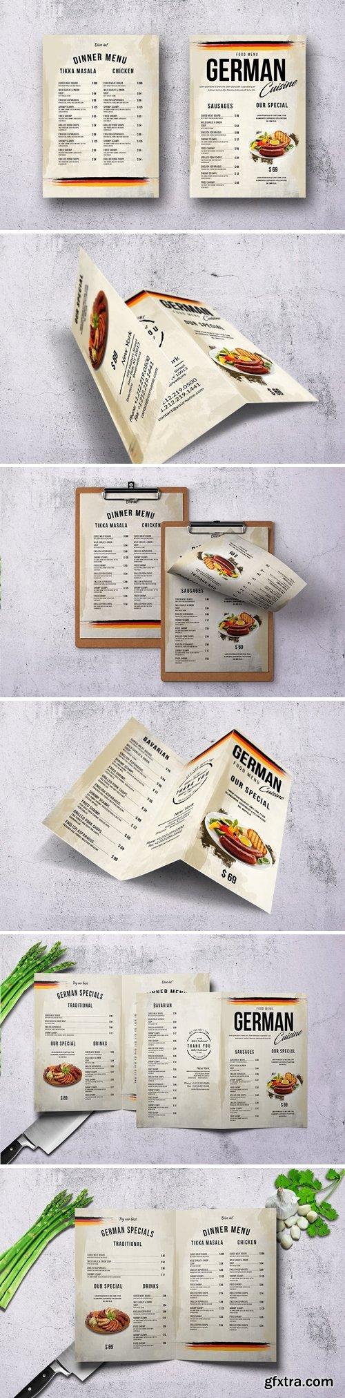 German Cuisine Food Menu Bundle