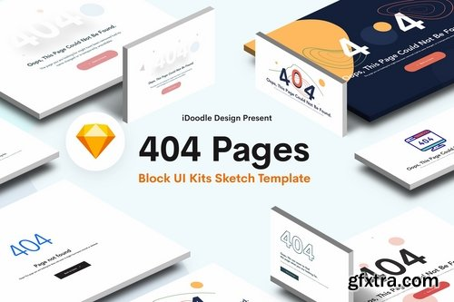 Creative 404 Block UI Kits Design