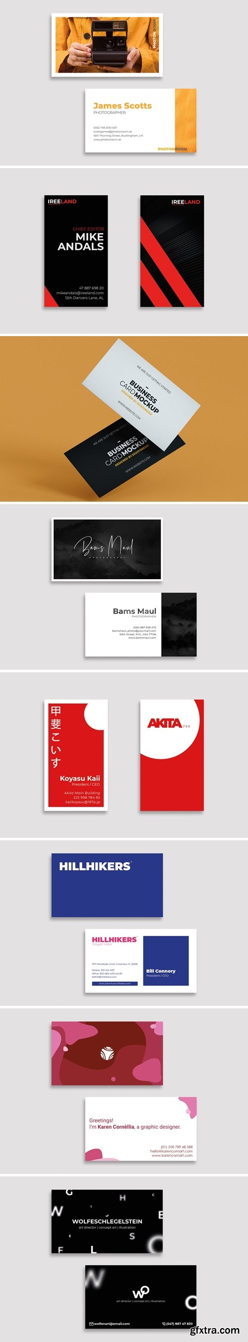 Business Card Design Professional Bundle