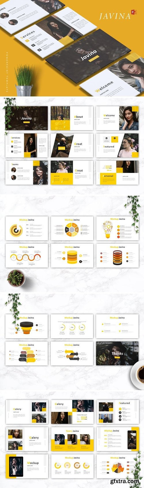 JAVINA - Fashion - Powerpoint Google Slides and Keynote Templates