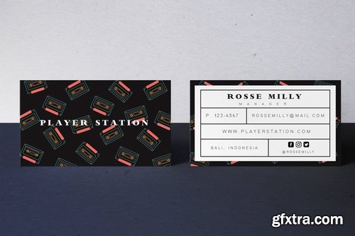 Player Station Business Card