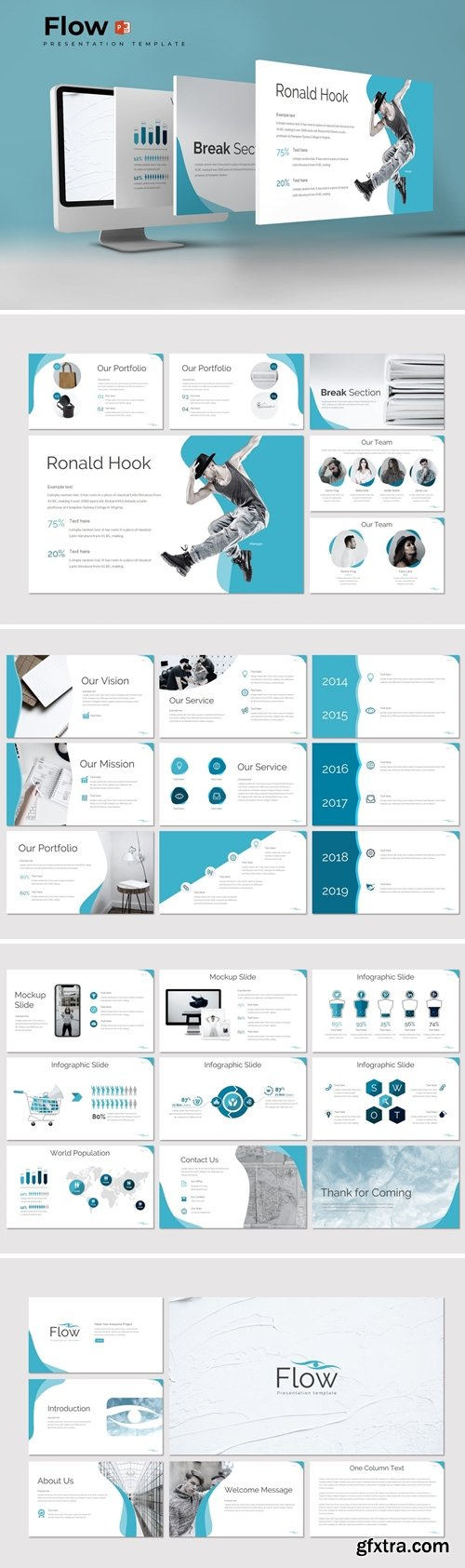 Flow Powerpoint Google Slides and Keynote Templates